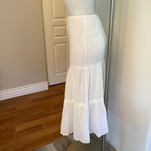 Fitted Frill White Skirt Small